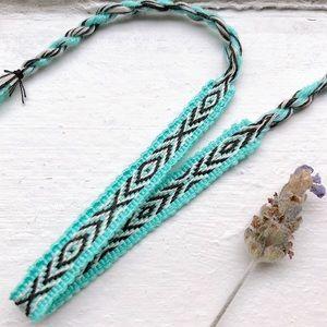 Jewelry - $4 BUNDLED❥ Aqua Boho Woven Bracelet